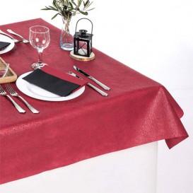 Non-Woven PLUS Tablecloth Burgundy 120x120cm (150 Units)