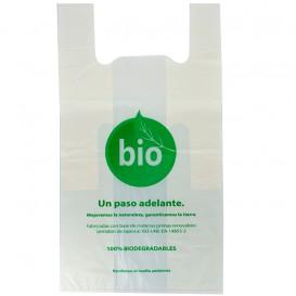 Plastic T-Shirt Bag 100% Biodegradable 55x60cm (100 Units)