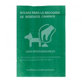 Plastic bag for dog droppings 100% bio 18x26cm (100 units)