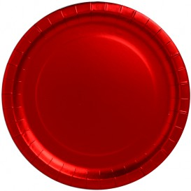 "Paper Plate Round Shape ""Party"" Red Ø34cm (3 Units)"