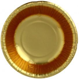 """Paper Bowl """"Party"""" Gold Ø16cm (6 Units)"""