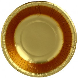 """Paper Bowl """"Party"""" Gold Ø16cm (90 Units)"""