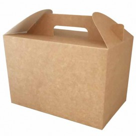 Paper Menu Box Kraft 22,5x14,5x15cm (150 Units)