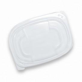 Plastic Lid Translucent Container PP 400/600ml 19x14x2cm (20 Units)