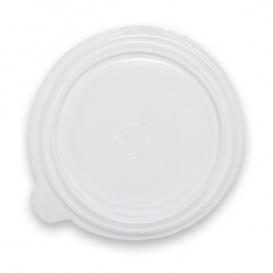 Plastic Lid Translucent Deli Container PP 350/400ml Ø12,0x1,8cm (100 Units)