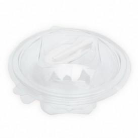 Plastic Salad Bowl APET Round shape with Spoon 500ml Ø15,6cm (60 Units)