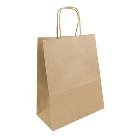 Paper Bag with Handles Kraft Brown 100g 22+11x27cm (25 Units)