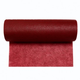 Non-Woven PLUS Tablecloth Roll Burgundy 1x50m (6 Units)