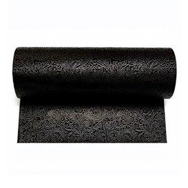 Non-Woven PLUS Tablecloth Roll Black 1,2x50m P40cm (6 Units)