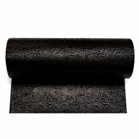 Non-Woven PLUS Tablecloth Roll Black 1x50m (6 Units)