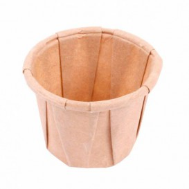 Pleated Kraft Paper Souffle Cup 22ml (250 Units)