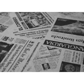 "Pre-Cut Paper Tablecloth 1,2x1,2m White ""Prensa"" 37g 1,2x1,2m (300 Units)"