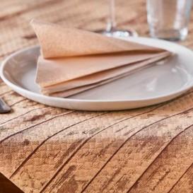 """Pre-Cut Paper Tablecloth 1x1m """"Wood"""" Kraft 1x1m (400 Units)"""