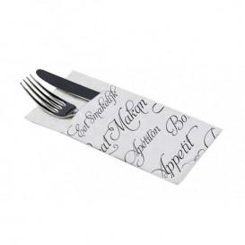 """Pocket Fold Paper Napkins """"Enjoy your meal"""" 40x40cm (960 Units)"""