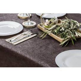 Non-Woven PLUS Tablecloth Brown 120x120cm (100 Units)