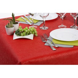 Non-Woven PLUS Tablecloth Red 120x120cm (100 Units)