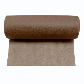 Non-Woven PLUS Tablecloth Roll Brown 1,2x45m P40cm (6 Units)