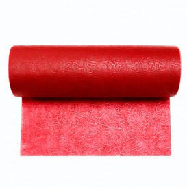 Non-Woven PLUS Tablecloth Roll Red 1,2x45m P40cm (6 Units)