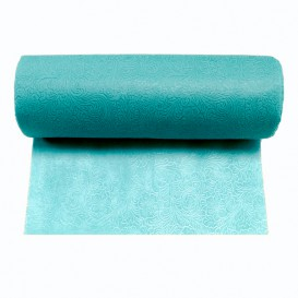 Non-Woven PLUS Tablecloth Roll Turquoise 0,40x45m P30cm (6 Units)
