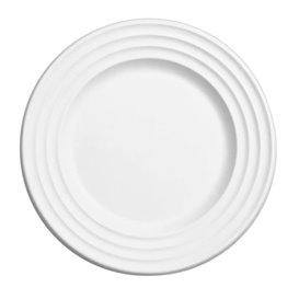 Sugarcane Plate Premium Wave White Ø18cm (50 Units)