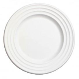 Sugarcane Plate Premium Wave White Ø18cm (600 Units)