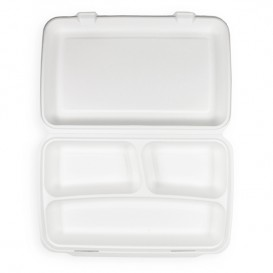 "Sugarcane ""MenuBox"" Container 3C 38x48,3x6,15cm (50 Units)"