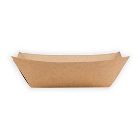 Paper Food Boat Tray Kraft-Kraft 350ml 10,6x7,3x4,5cm (1000 Units)
