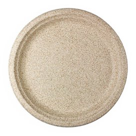 Wheat Straw Plate Natural Ø26 cm (50 Units)