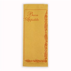 """Paper Cutlery Envelopes with Napkin """"Buon Appetito"""" (125 Units)"""