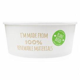 Paper Salad Bowl White Medium size 775ml (45 Units)