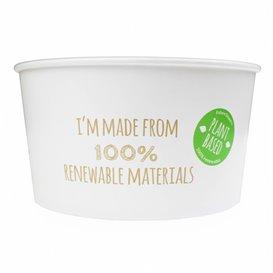 Paper Salad Bowl White Large size 1030ml (360 Units)