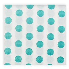 "Paper Napkin Double Point ""Polkadots Turquoise"" 40x40cm (50 Units)"