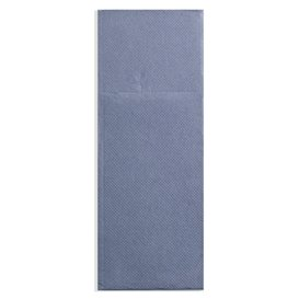 Pocket Fold Paper Napkins Cow Boys Blue 30x40cm (30 Units)