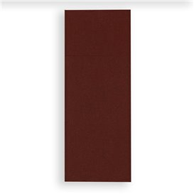 Pocket Fold Paper Napkins Brown 30x40cm (30 Units)