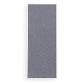 Pocket Fold Paper Napkins Grey 30x40cm (1200 Units)