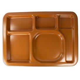 Plastic Compartment Tray Hard Chocolate 5C 47x35cm (1 Unit)
