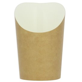 Paper Container Kraft Effect Anti-Grease Medium Cup (55 Units)