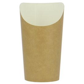 Paper Container Kraft Effect Anti-Grease Large Cup (55 Units)