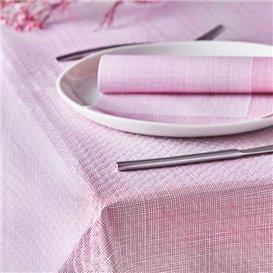 "Pre-Cut Paper Tablecloth 1,2x1,2m ""Between Lines"" Burgundy 40g/m² (300 Units)"