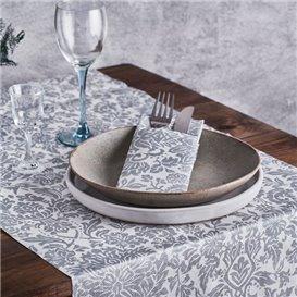 "Airlaid Tablecloth Roll 0,4x48m ""Versalles"" Grey 50g/m² P30cm (1 Unit)"