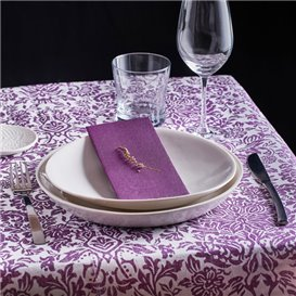 "Airlaid Tablecloth Roll 0,4x48m ""Versalles"" Purple 50g/m² P30cm (1 Unit)"