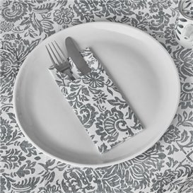 "Pocket Fold Airlaid Napkins ""Versalles"" Grey 33x40cm 55g/m² (800 Units)"