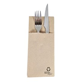 Cutlery Pocket Fold Napkin de Papel Eco 30x40cm (30 Units)