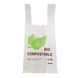 Plastic T-Shirt Bag 100% Biodegradable 48x60cm 25µm (800 Units)