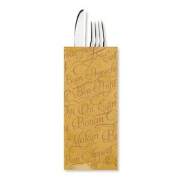 """Paper Cutlery Envelopes with Napkin """"Buen Provecho"""" Kraft (100 Units)"""