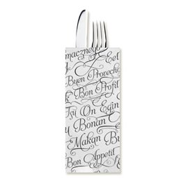 """Paper Cutlery Envelopes with Napkin """"Buen Provecho"""" (100 Units)"""