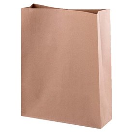 Paper Bag without Handle Kraft 32+12x42cm (25 Units)