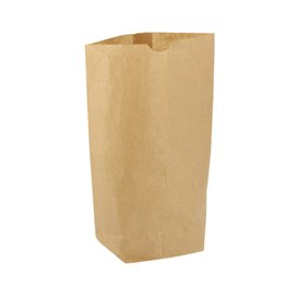 Paper Bag with Hexagonal Base Kraft 17x22cm (50 Units)