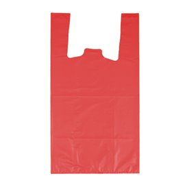 "Plastic T-Shirt Bag 70% Recycled ""Colors"" Red 42x53cm 50µm (40 Units)"