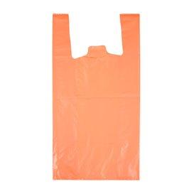 "Plastic T-Shirt Bag 70% Recycled ""Colors"" Orange 42x53cm 50µm (40 Units)"